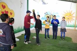 """تدريب أطفال من#مركز_سجىو#مدرسة_سجىللمشاركة في """"بطولة العودة """" المنفذة من الأولمبياد الخاص الفلسطيني (الإعاقات الذهنية)"""