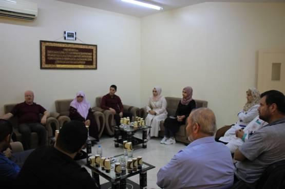 زيارة وفد من جمعية مبرة فلسطين للرعاية لمركز الوفا لرعاية المسنين
