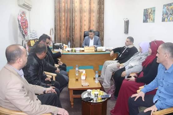 وفد من جمعية مبرة فلسطين في زيارة لوزارة التنمية الاجتماعية بغزة
