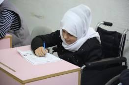 طلبة مدرسة سجى يقدمون أوراق العمل النهائية للفصل الدراسي الأول