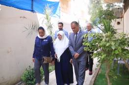 وفد رفيع المستوى من برنامج الأغذية العالمي يزور مبرة فلسطين