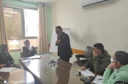 جمعية مبرة فلسطين للرعاية تعقد اجتماعا لموظفيها
