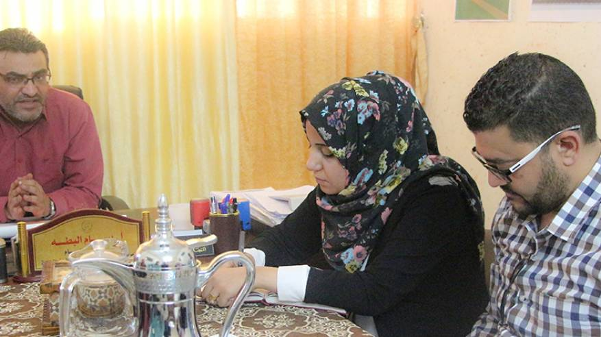 """برنامج غزة للصحة النفسية يزور """" مبرة فلسطين """""""