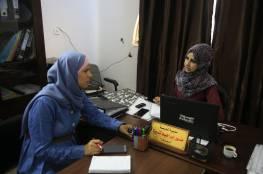قائدة العمل الميداني ومديرة العديد من المشاريع في زيارة لجمعية مبرة فلسطين