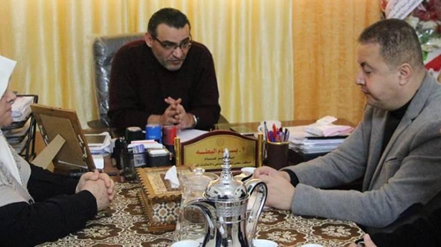 وفد من الكلية الجامعية يزور مبرة فلسطين للرعاية